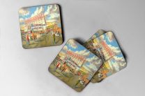 Valley Parade Stadium 'Going to the Match' Fine Art Coasters Set - Bradford City Football Club