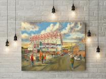 Valley Parade Stadium 'Going to the Match' Fine Art Canvas Print - Bradford City Football Club