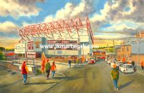 Valley Parade Stadium 'Going to the Match' Fine Art Print - Bradford City Football Club