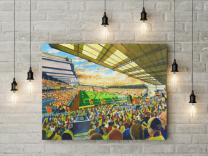 Vicarage Road Stadium Fine Art Canvas Print - Watford Football Club