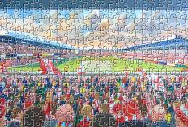 Victoria Ground Stadium Fine Art Jigsaw Puzzle - Stoke City Football Club