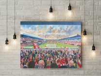 Victoria Ground Stadium Fine Art Canvas Print - Stoke City Football Club