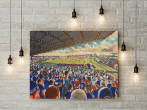 Victoria Park Stadium Fine Art Canvas Print - Ross County Football Club