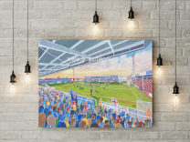 Victoria Park Stadium Fine Art Canvas Print - Hartlepool United Football Club