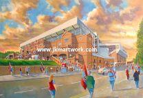 Villa Park Stadium 'Going to the Match' Fine Art Print  - Aston Villa Football Club