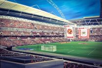 Wembley Stadium Fine Art Box Canvas Print 'Walsall v Bristol City Johnstone Paint Trophy 2015'