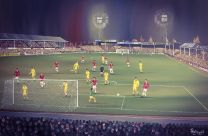 Fellows Park Stadium Fine Art Box Canvas Print 'v Liverpool Milk Cup 1984' - Walsall Football Club
