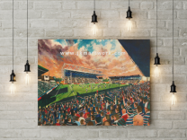 Welford Road Stadium Fine Art Canvas Print - Leicester Tigers Rugby Union