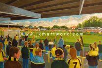 Wetherby Stadium Fine Art Print - Harrogate Town Football Club
