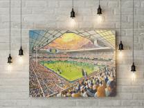 White Hart Lane Stadium Fine Art Canvas Print - Tottenham Hotspur Football Club