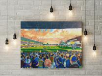 Wilderspool Stadium Fine Art Canvas Print - Warrington Rugby League Club