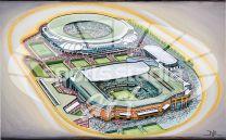 All England Lawn Tennis Stadia Fine Art Print - Wimbledon Grand Slam Tournament