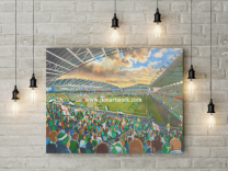 Windsor Park Stadium Fine Art Canvas Print - Northern Ireland Football