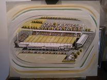 Huish Park Stadia Fine Art Print - Yeovil Town Football Club